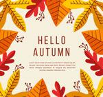 秋季树叶框架