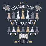 国际象棋日矢量