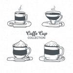 手绘创意咖啡杯