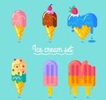 彩色夏季雪糕