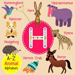 H动物字母表