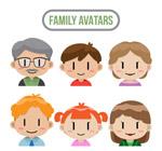 卡通家庭人物头像