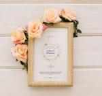 婚礼邀请卡相框
