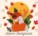 秋季落叶狐狸
