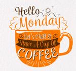 星期一咖啡矢量