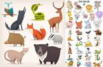 卡通风格动物