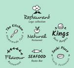 手绘餐馆标志