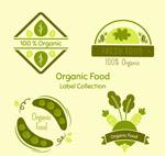 绿色有机蔬菜标签