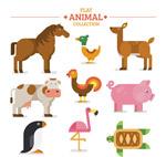 扁平化农场动物