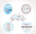 餐馆标签矢量