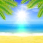 沙滩大海棕榈树