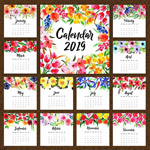 2019花卉年历