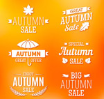 秋季促销标签