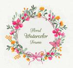 彩绘花卉框架