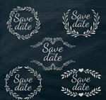 婚礼艺术字标签