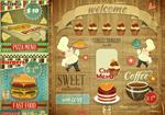 复古食物海报