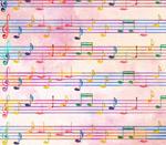 彩绘五线谱设计