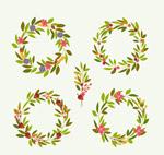 绿色花环设计