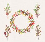 树枝和浆果花环
