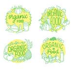 手绘有机食物标签