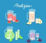 新鲜水果汁矢量