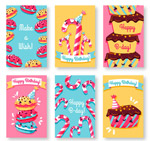 甜点生日卡片