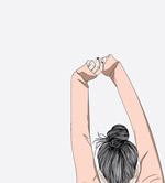 伸展双臂的女孩