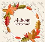 秋季树叶装饰圆环