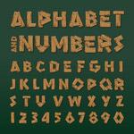 木制字母数字