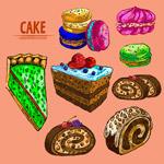 彩绘美味蛋糕