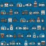 彩绘房屋无缝背景