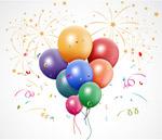 节日庆祝气球束
