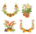 秋季花束和花环