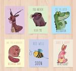 彩绘动物卡片