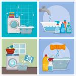 洗衣清洁产品广告