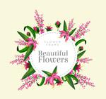 粉色花卉框架