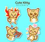 可爱猫咪贴纸