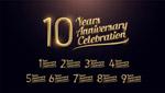 10周年庆典矢量