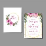 花木槿婚礼邀请卡