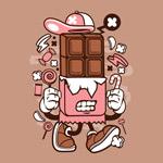 卡通巧克力棒