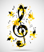 抽象音乐背景