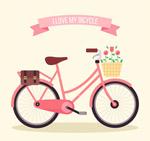 粉色自行车