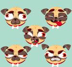 卡通巴哥犬头像