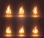 火焰背景矢量