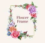 方形玫瑰花框架