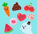 水果和幽灵贴纸