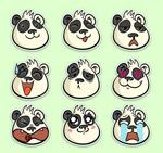 熊猫表情贴纸