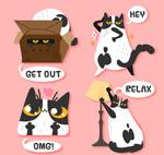 搞怪猫咪贴纸