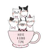 卡通杯子里的猫咪