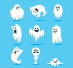 白色万圣节幽灵